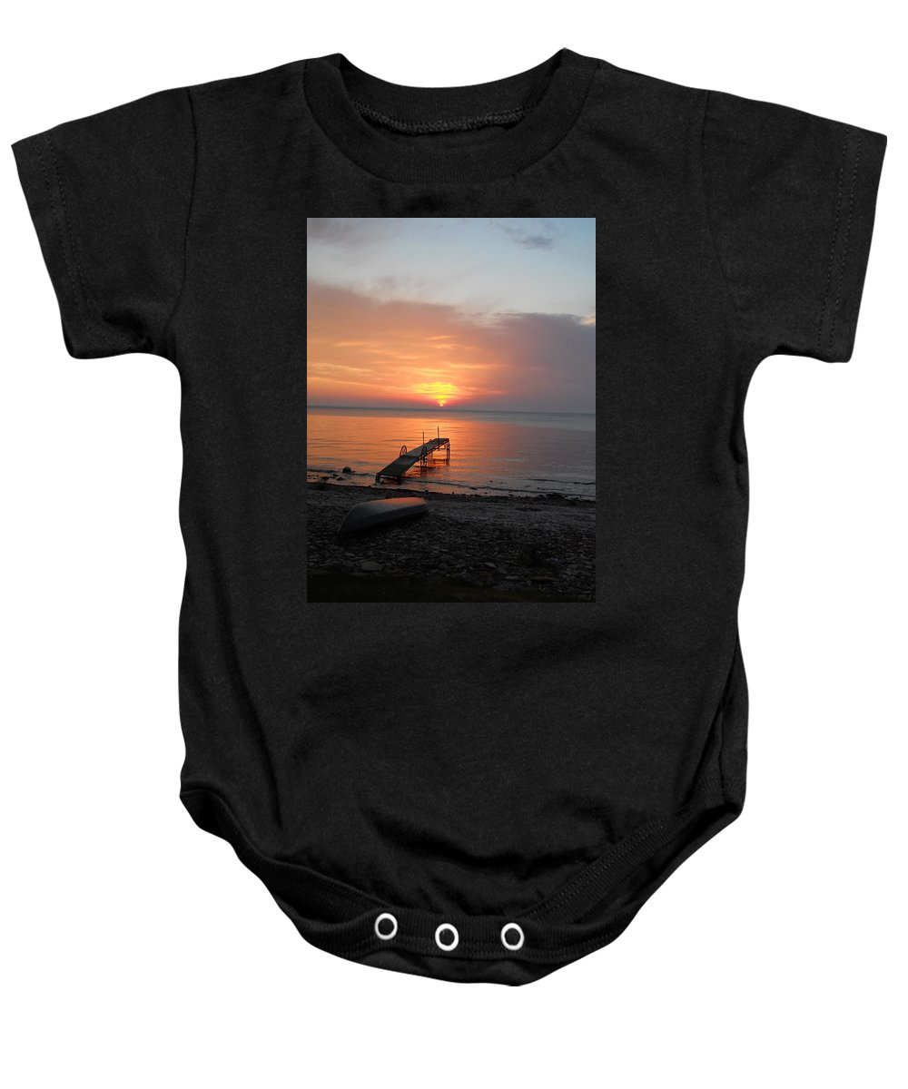 Kayaking Baby Onesie featuring the photograph Evening Rest by Carrie Godwin