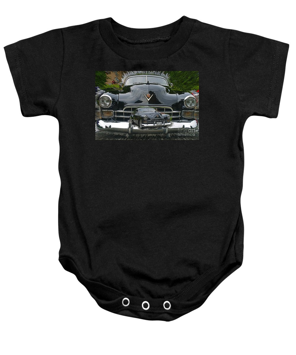 Cars Baby Onesie featuring the photograph Extruding Background Classic by Randy Harris