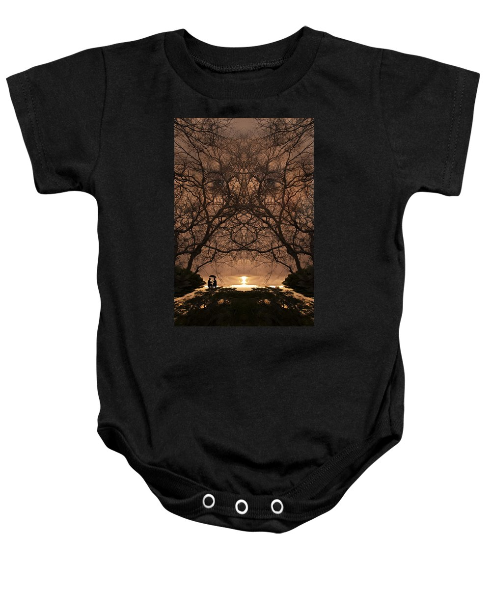 Art Baby Onesie featuring the photograph Eyes Of Secrecy by Jay Hooker