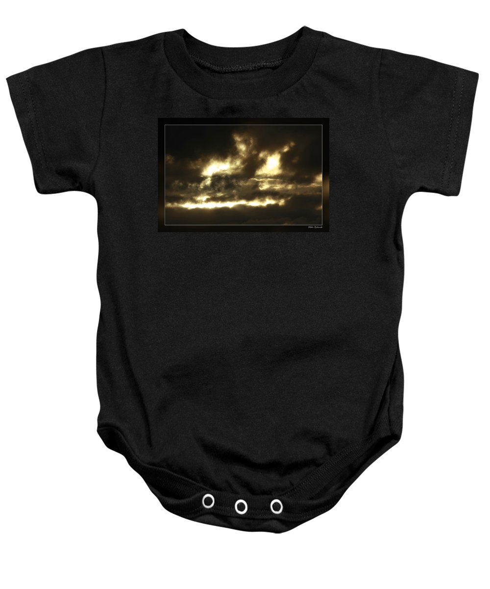 Baby Onesie featuring the photograph Face In Sky by Blake Richards