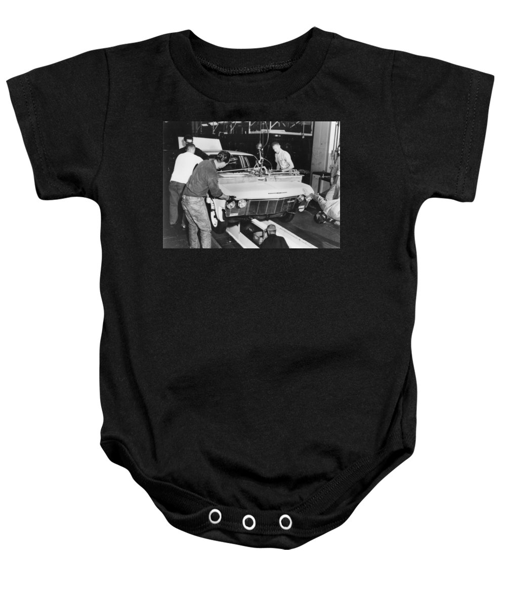 1960s Baby Onesie featuring the photograph Factory: Chevrolet, 1960s by Granger