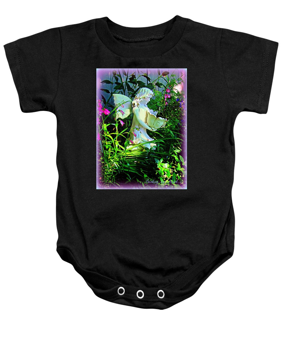 Fairy Baby Onesie featuring the photograph Fairy Girl by Deahn   Benware