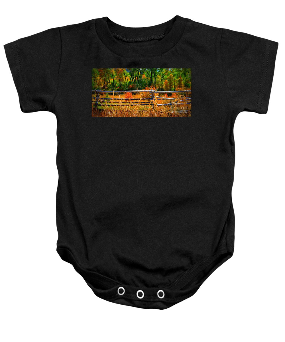 Landscape Baby Onesie featuring the photograph Fall by Janice Westerberg