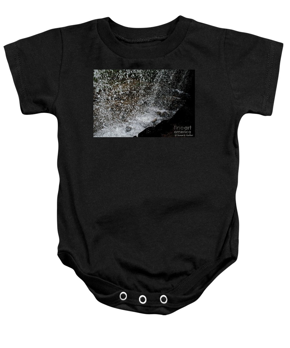 Outdoors Baby Onesie featuring the photograph Fall's Backside by Susan Herber