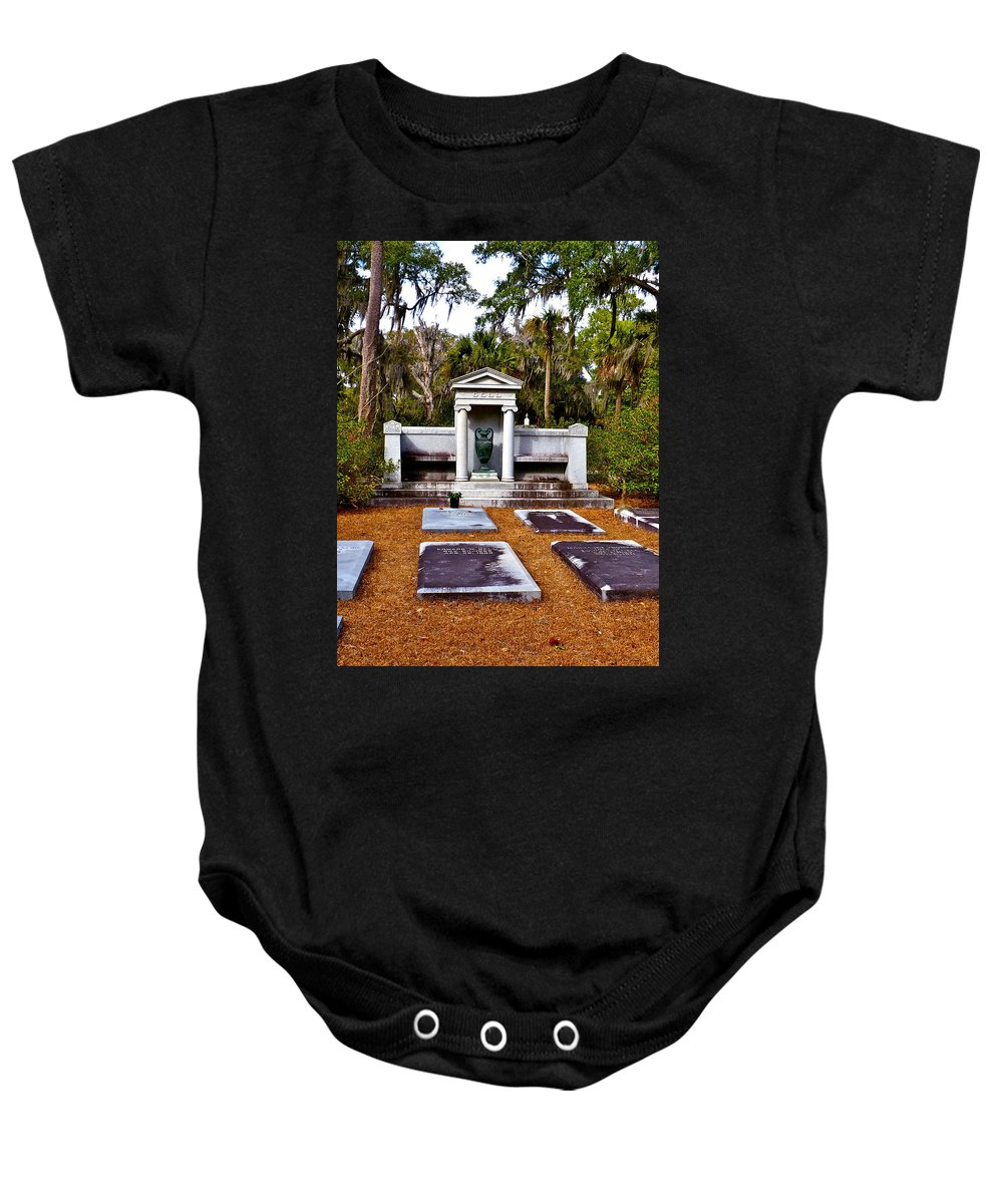 Cemetery Baby Onesie featuring the photograph Family Plot by Catherine Conroy