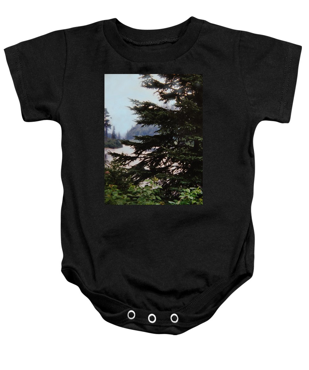 Agawa Baby Onesie featuring the photograph Far From Today by Ian MacDonald