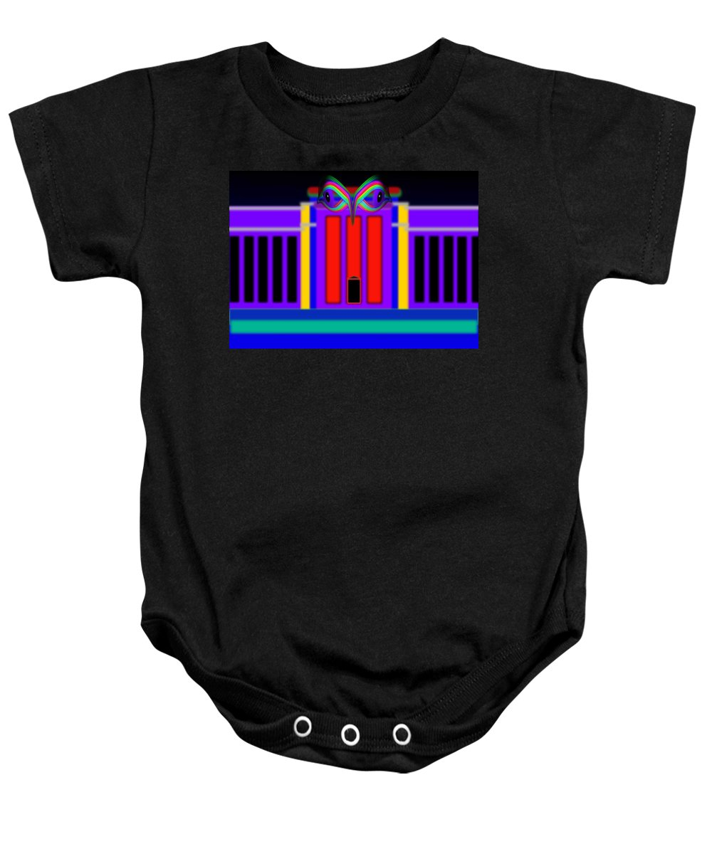 Fed Baby Onesie featuring the painting Federal Blue by Charles Stuart