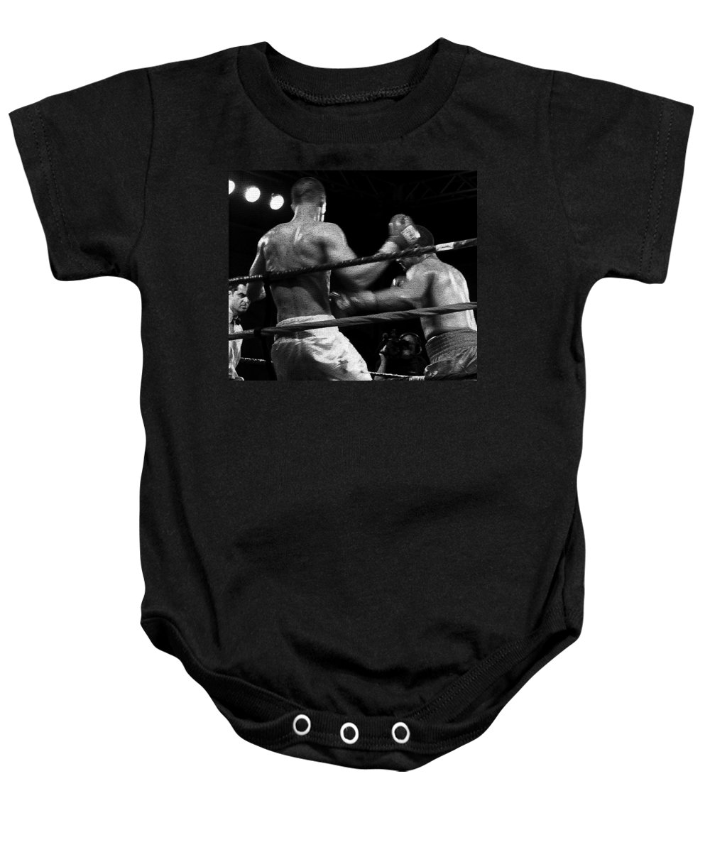 Digital Photography Baby Onesie featuring the photograph Fight Game by David Lee Thompson
