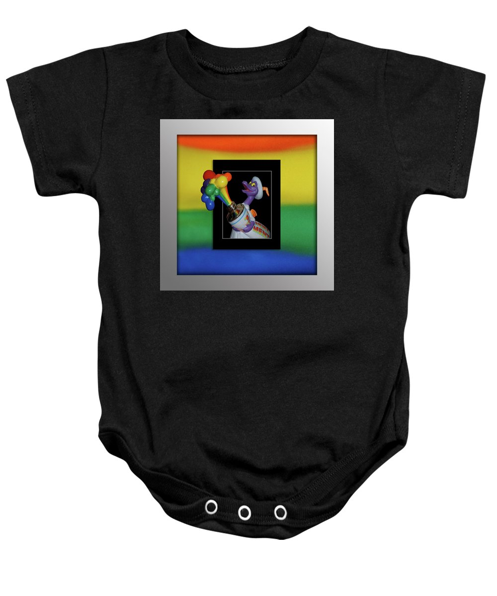 Out Of Bounds Baby Onesie featuring the photograph Figments Rainbow Of Colors by Thomas Woolworth