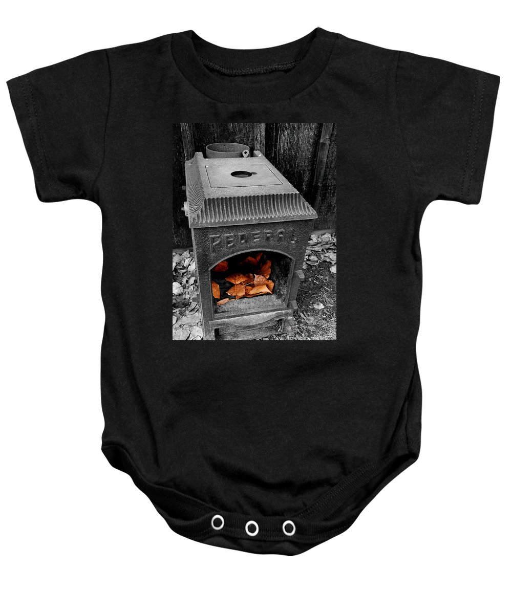 Selective Baby Onesie featuring the photograph Fire Box by Steven Milner
