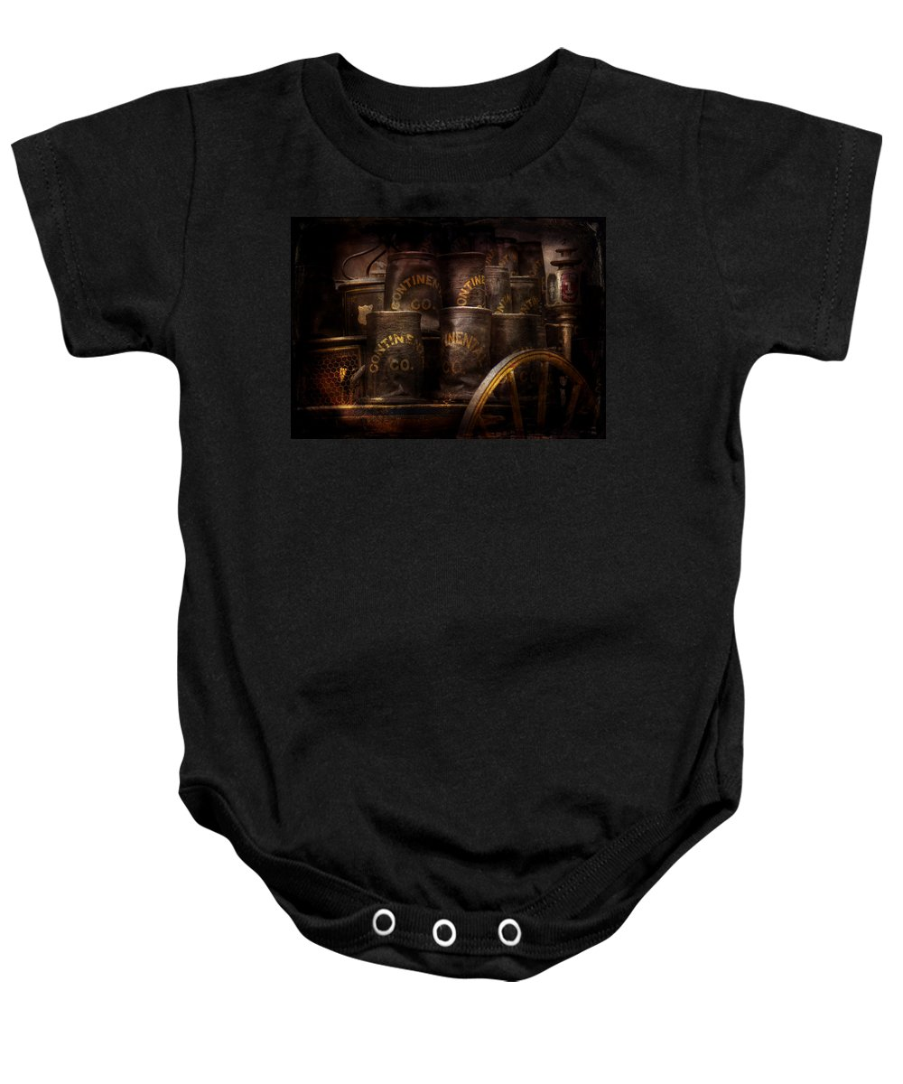 Hdr Baby Onesie featuring the photograph Fireman - Bucket Brigade by Mike Savad