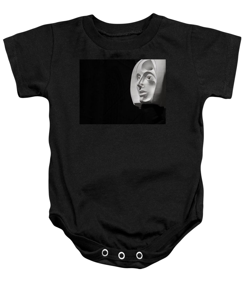 White Head Baby Onesie featuring the photograph Flating Head In Nyc by Michele Nelson