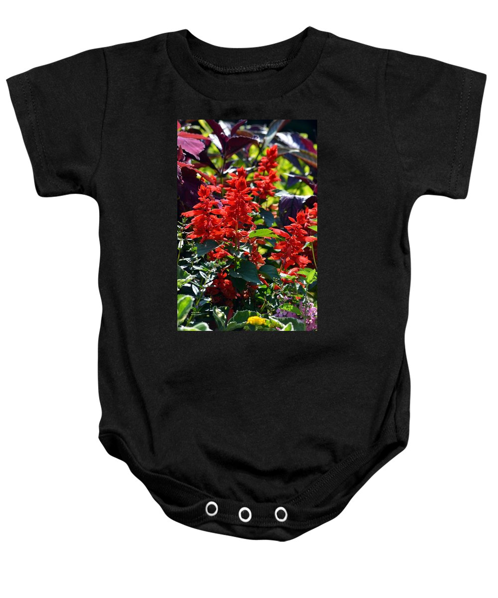 Flora Baby Onesie featuring the photograph Flora 5 by Maria Urso