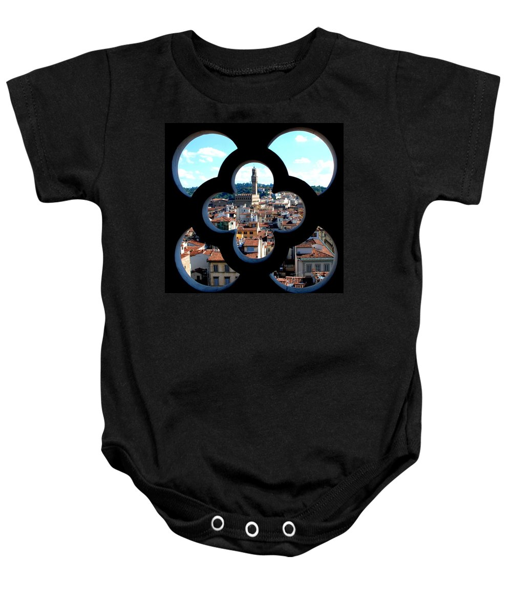 Florence Baby Onesie featuring the photograph Florence Through A Unique Lens by Dany Lison