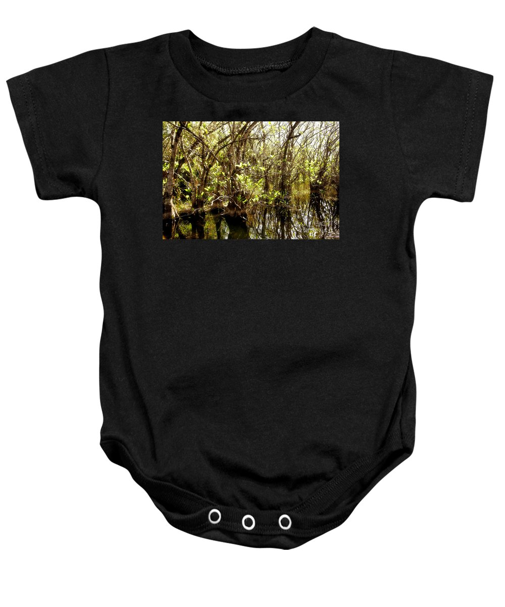 Miami Baby Onesie featuring the photograph Florida Everglades 9 by Madeline Ellis