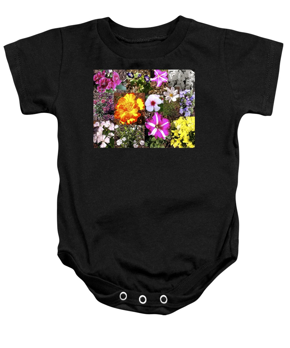 Garden Baby Onesie featuring the photograph Flowers In Stephanie's Garden by Linda Hutchins