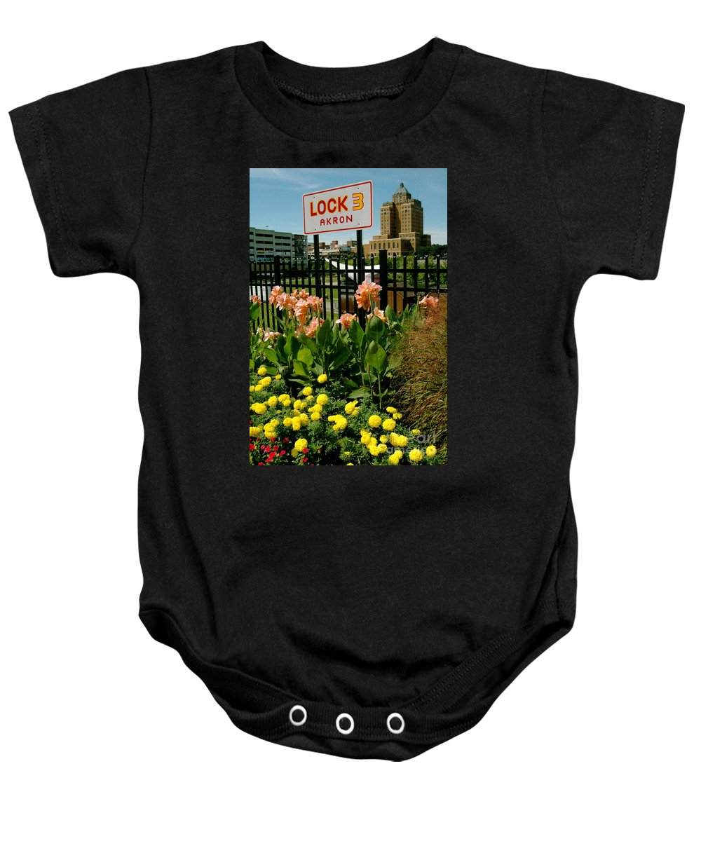 Akron Baby Onesie featuring the photograph Flowerscape by Trish Hale