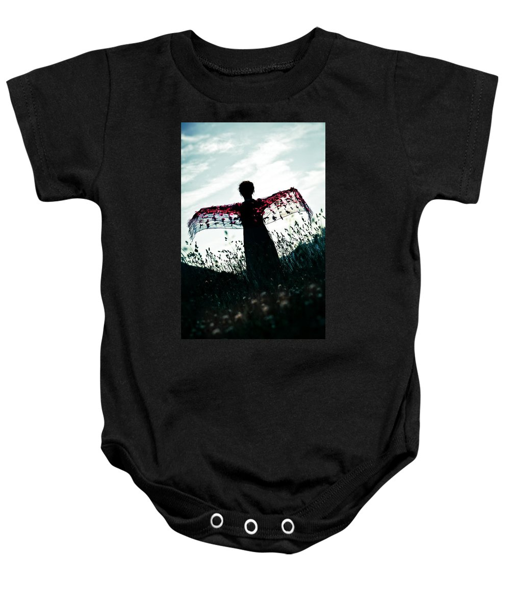 Female Baby Onesie featuring the photograph Flying by Joana Kruse