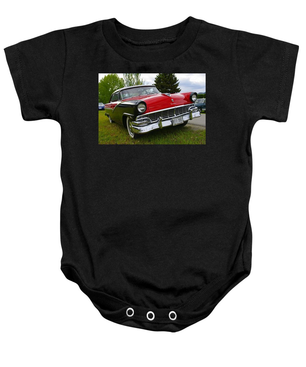 Ford Baby Onesie featuring the photograph Ford Fairlane by John Greaves