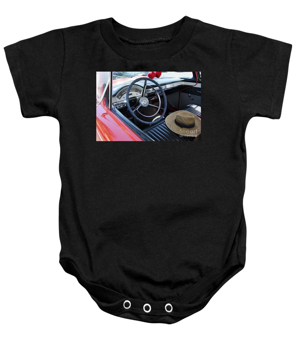 Ford Ranchero Baby Onesie featuring the photograph Ford Ranchero Seating by Mary Deal