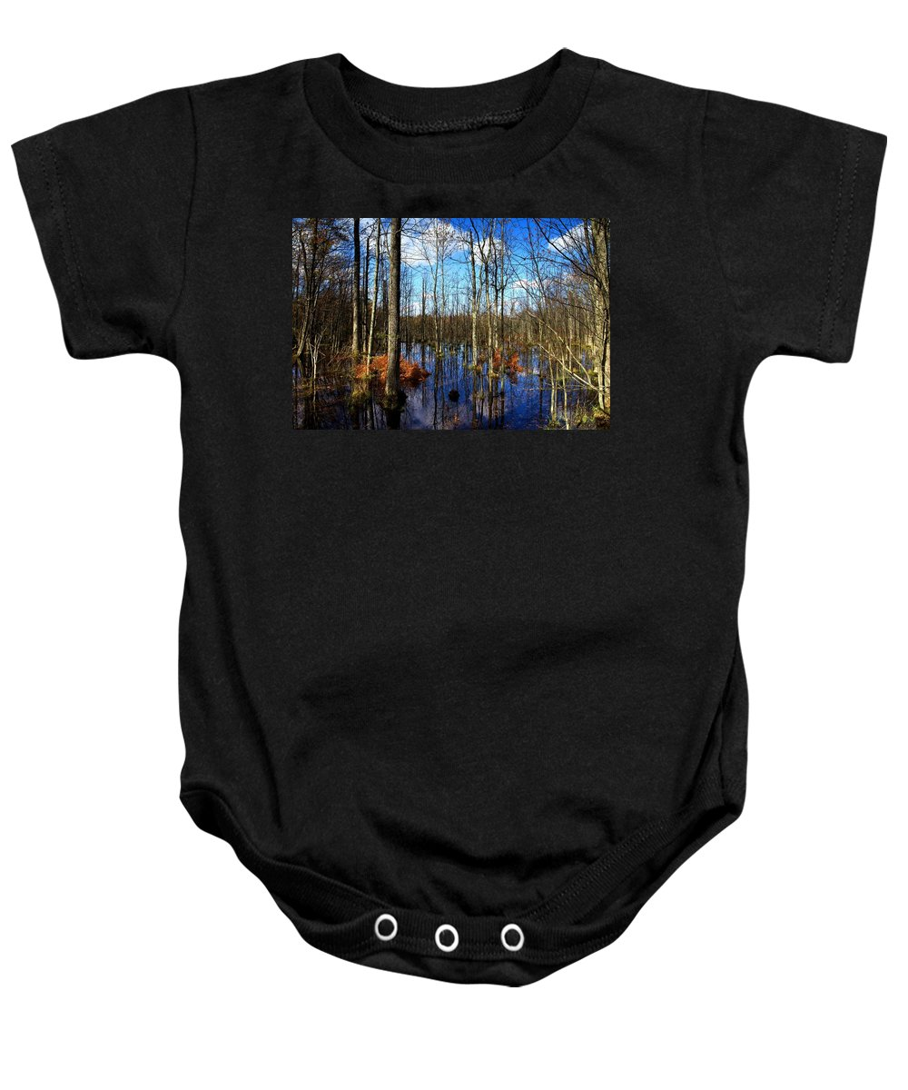Forest Baby Onesie featuring the photograph Forest In Colorful Fall by Paul Ge