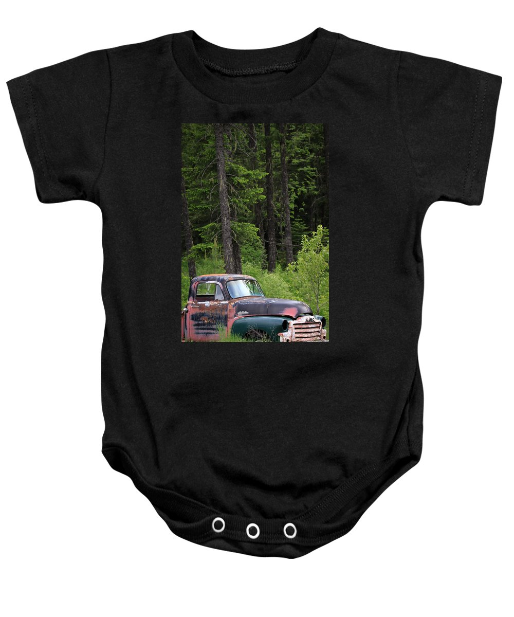 Gmc Baby Onesie featuring the photograph Forgotten Gmc by Steve McKinzie