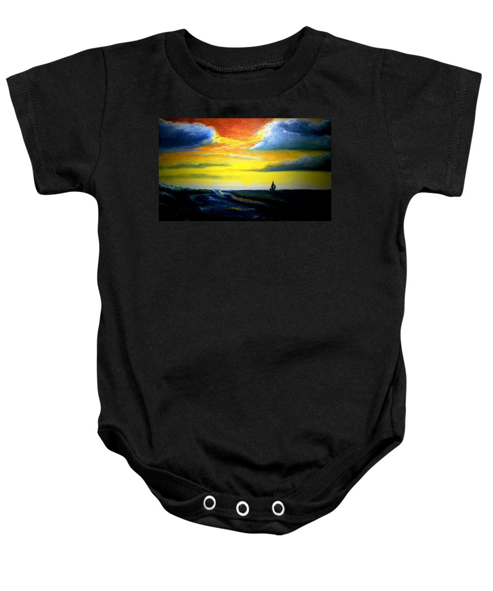 Landscape Baby Onesie featuring the painting Freedom by Glory Fraulein Wolfe