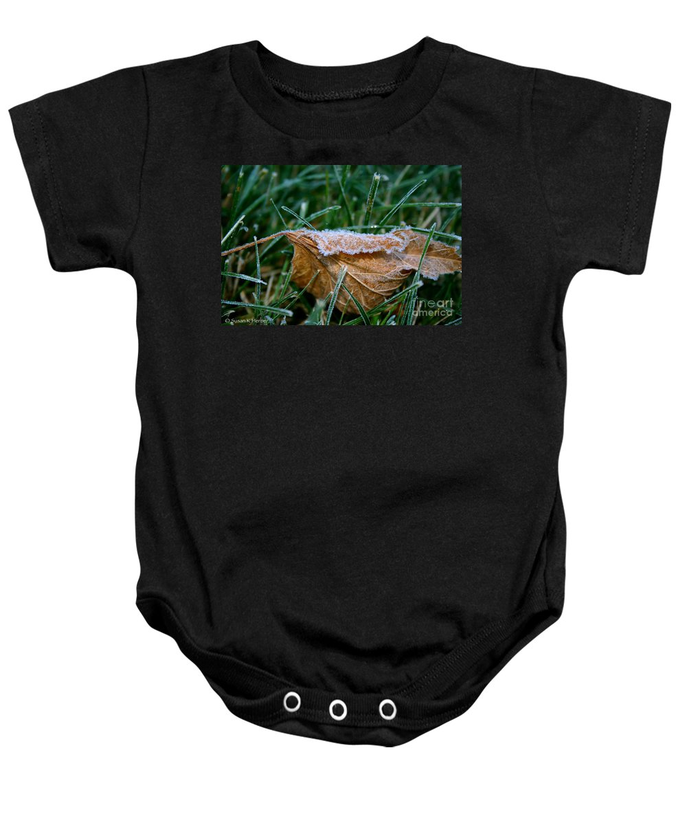 Outdoors Baby Onesie featuring the photograph Fringed In Frost by Susan Herber