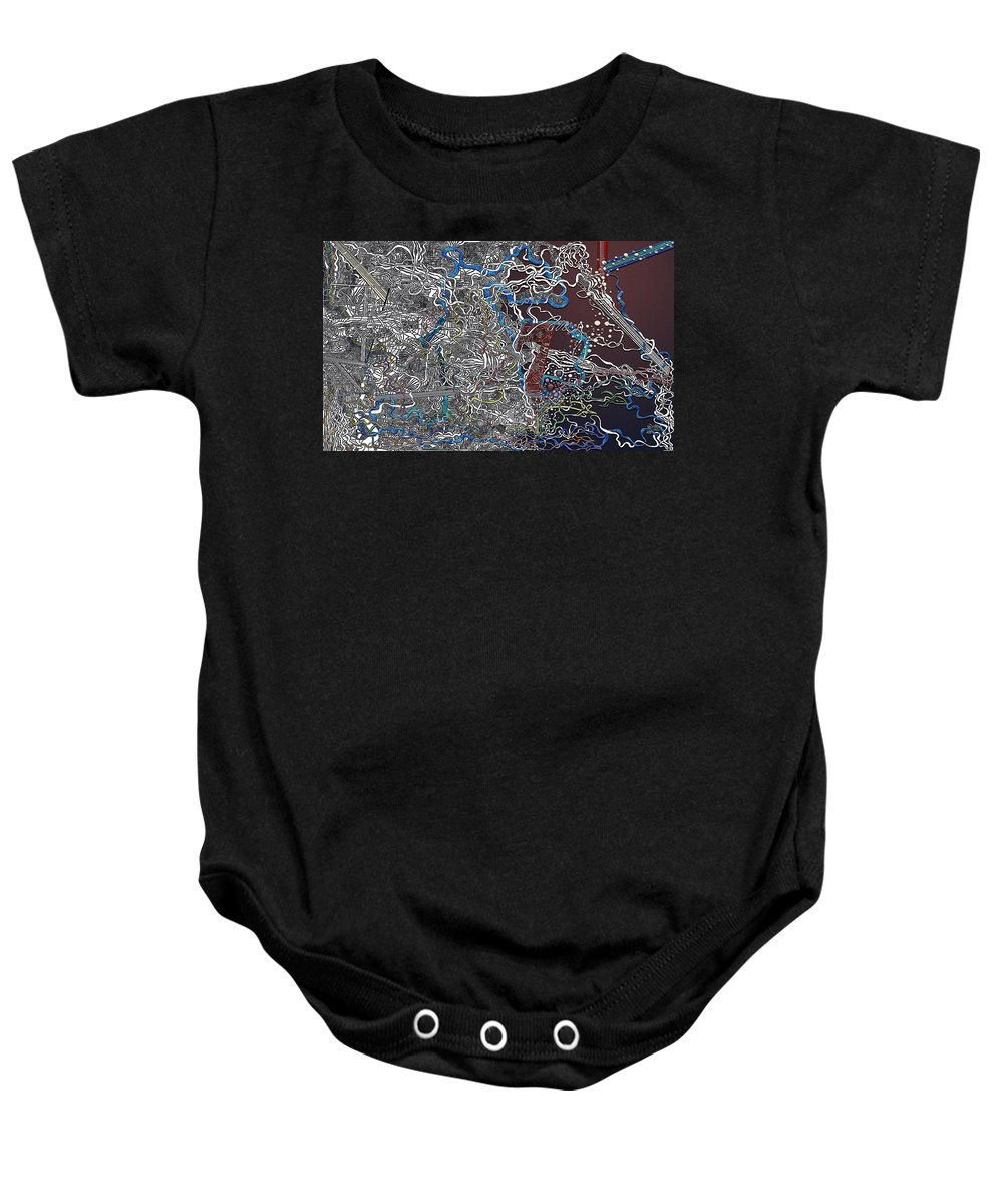 Virtual Shattered Glass Baby Onesie featuring the painting Frosted Oxygen by Douglas Christian Larsen
