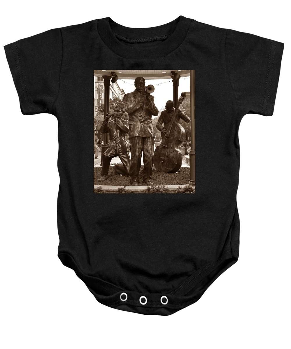 Fulton Square New Orleans Baby Onesie featuring the photograph Fulton Square New Orleans by Bill Cannon