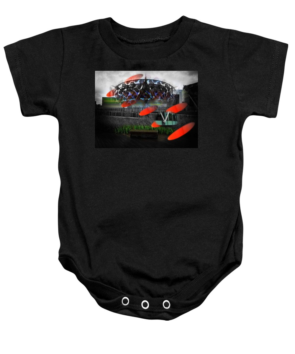 Galactus Baby Onesie featuring the photograph Galactus by Charles Stuart