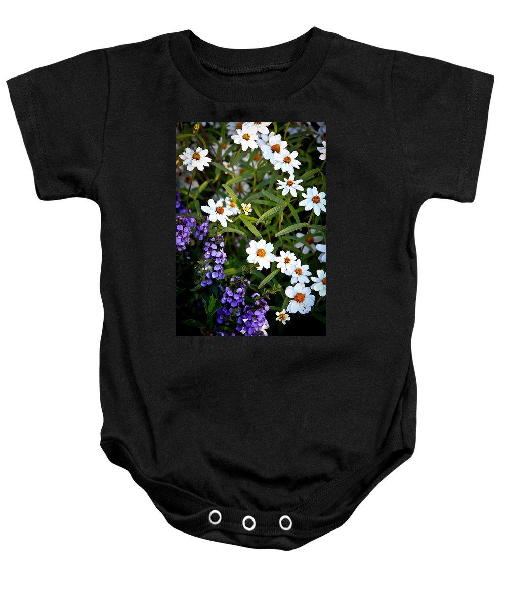 Flowers Baby Onesie featuring the photograph Garden Flowers by Steve McKinzie