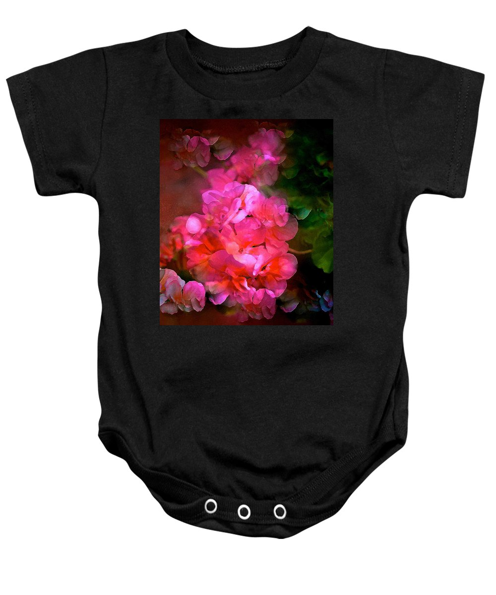 Floral Baby Onesie featuring the photograph Geranium 9 by Pamela Cooper