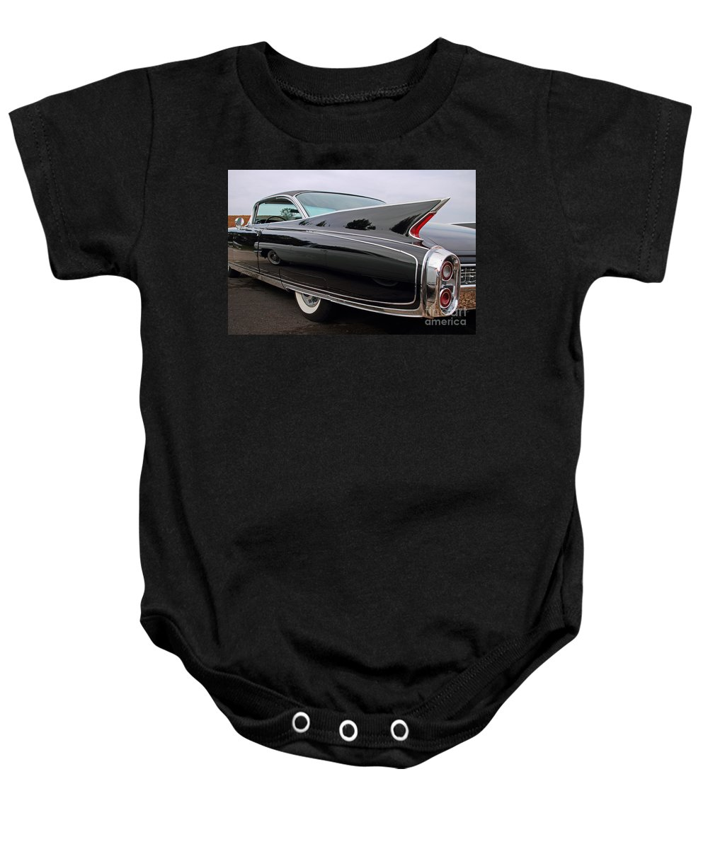 Classic Baby Onesie featuring the photograph Ghost Cadillac by Dennis Hedberg