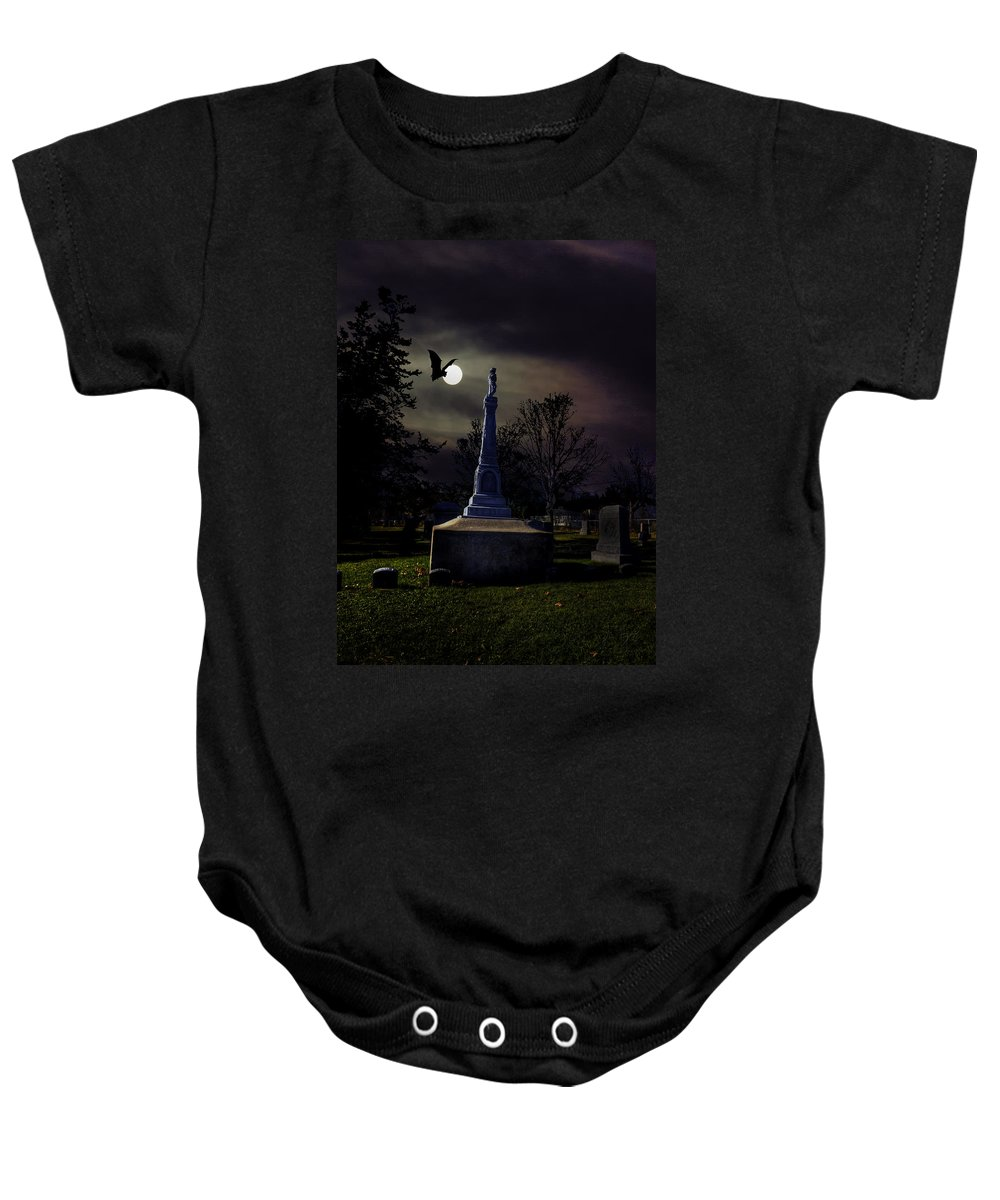 Xdop Baby Onesie featuring the photograph Gibbard Grave by John Herzog