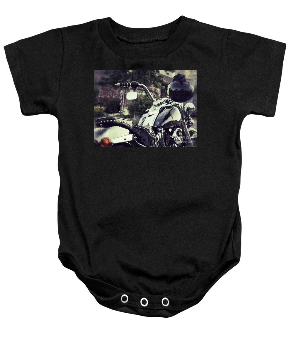 Motorcycle Baby Onesie featuring the photograph Giddy Up by Traci Cottingham