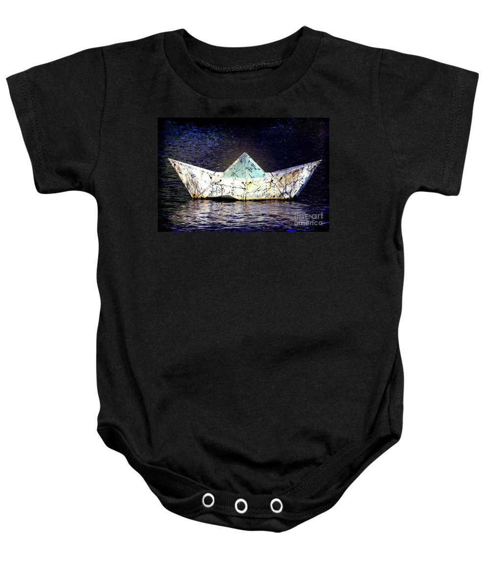 Boat Baby Onesie featuring the photograph Glass Bottomed Boat by Stephen Mitchell