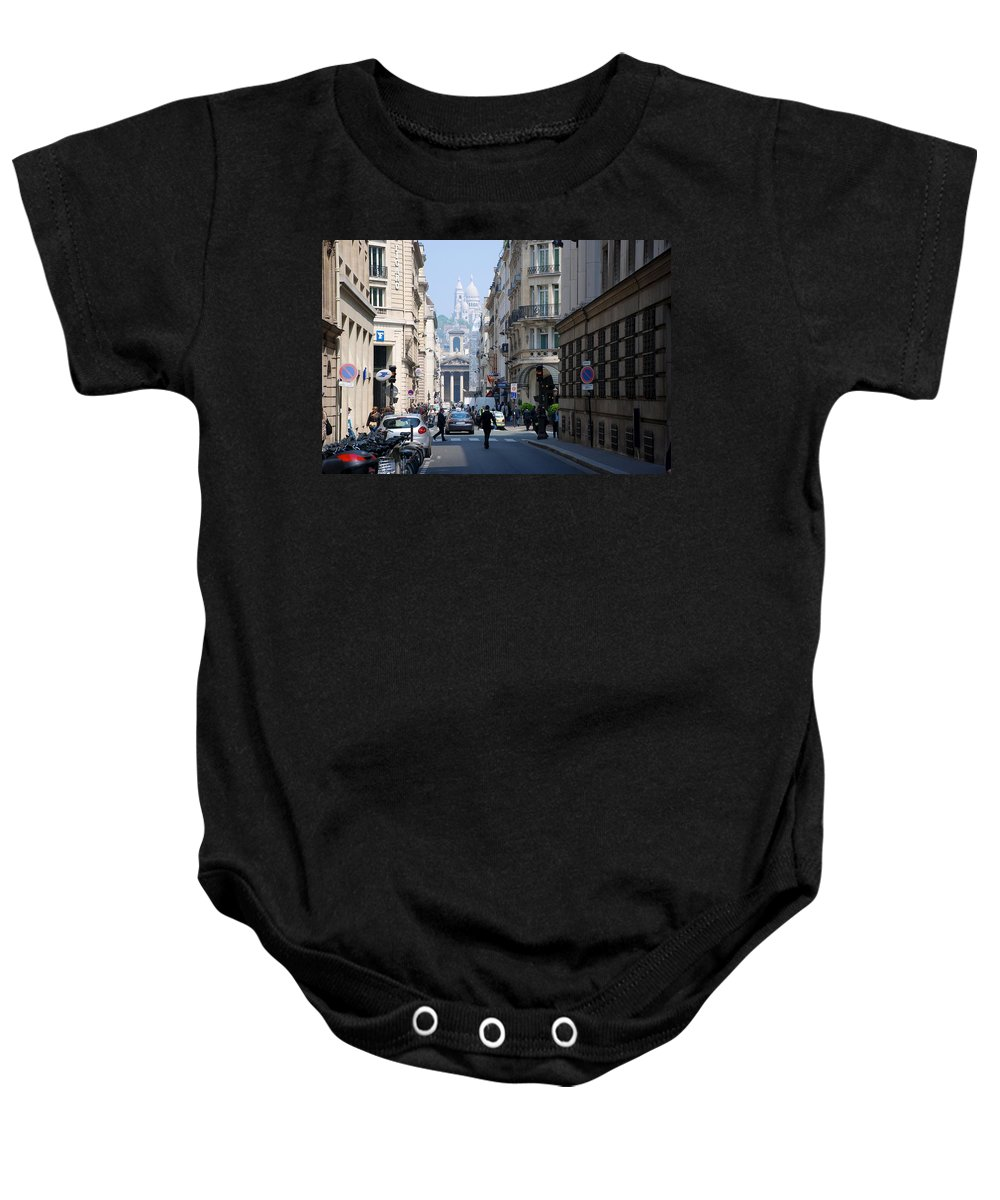 Montmartre Baby Onesie featuring the photograph Glimpse Of Montmartre by Eric Tressler
