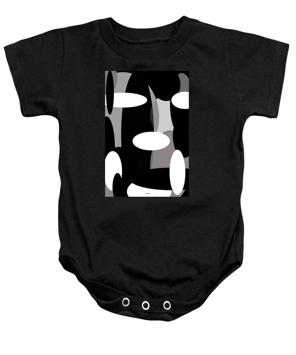 Post Constructivism/geometric Digital Drawings Baby Onesie featuring the photograph Globules by Doug Duffey