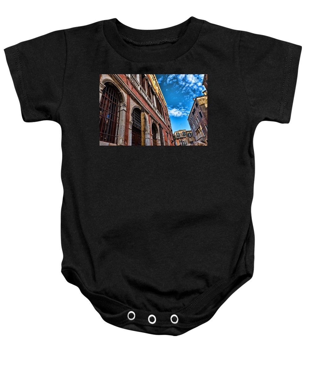 Blue Sky Baby Onesie featuring the photograph Gondola View by Jon Berghoff
