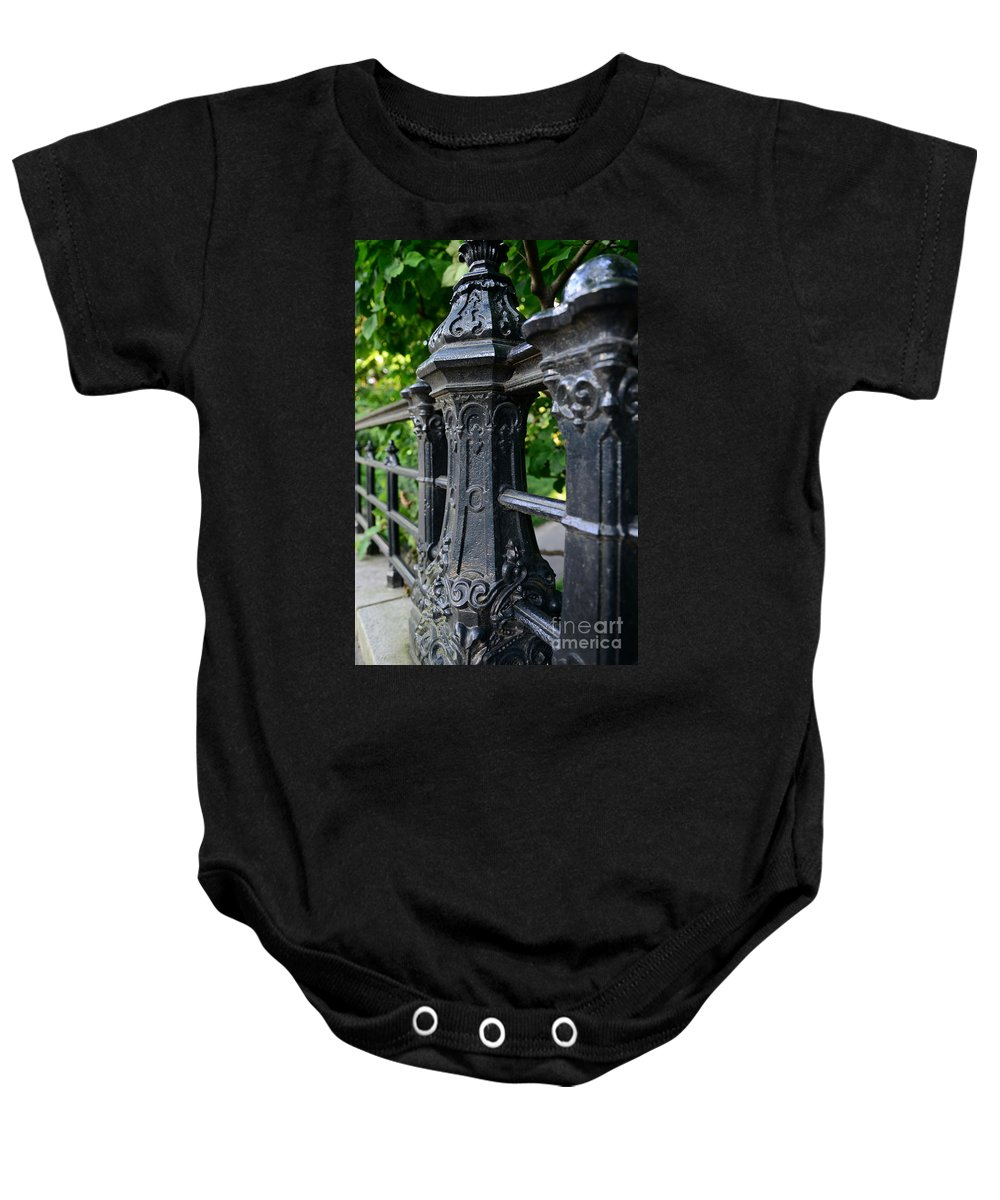 Gothic Design Baby Onesie featuring the photograph Gothic Design by Paul Ward