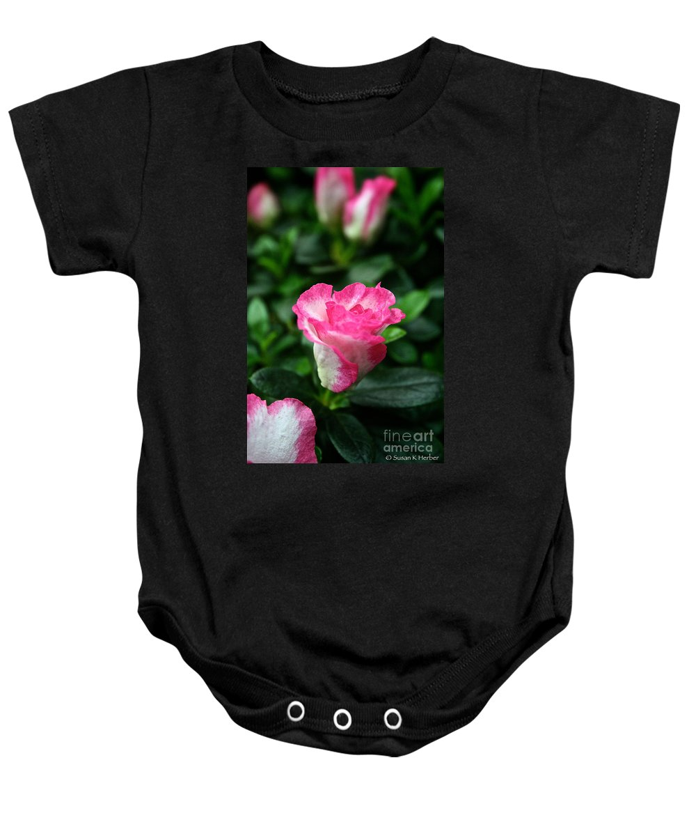 Tropical Plant Baby Onesie featuring the photograph Grand Opening by Susan Herber