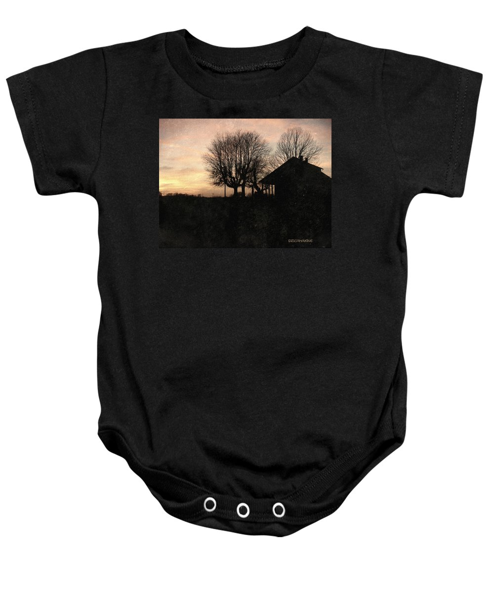 House Baby Onesie featuring the photograph Grandmas House by Ericamaxine Price