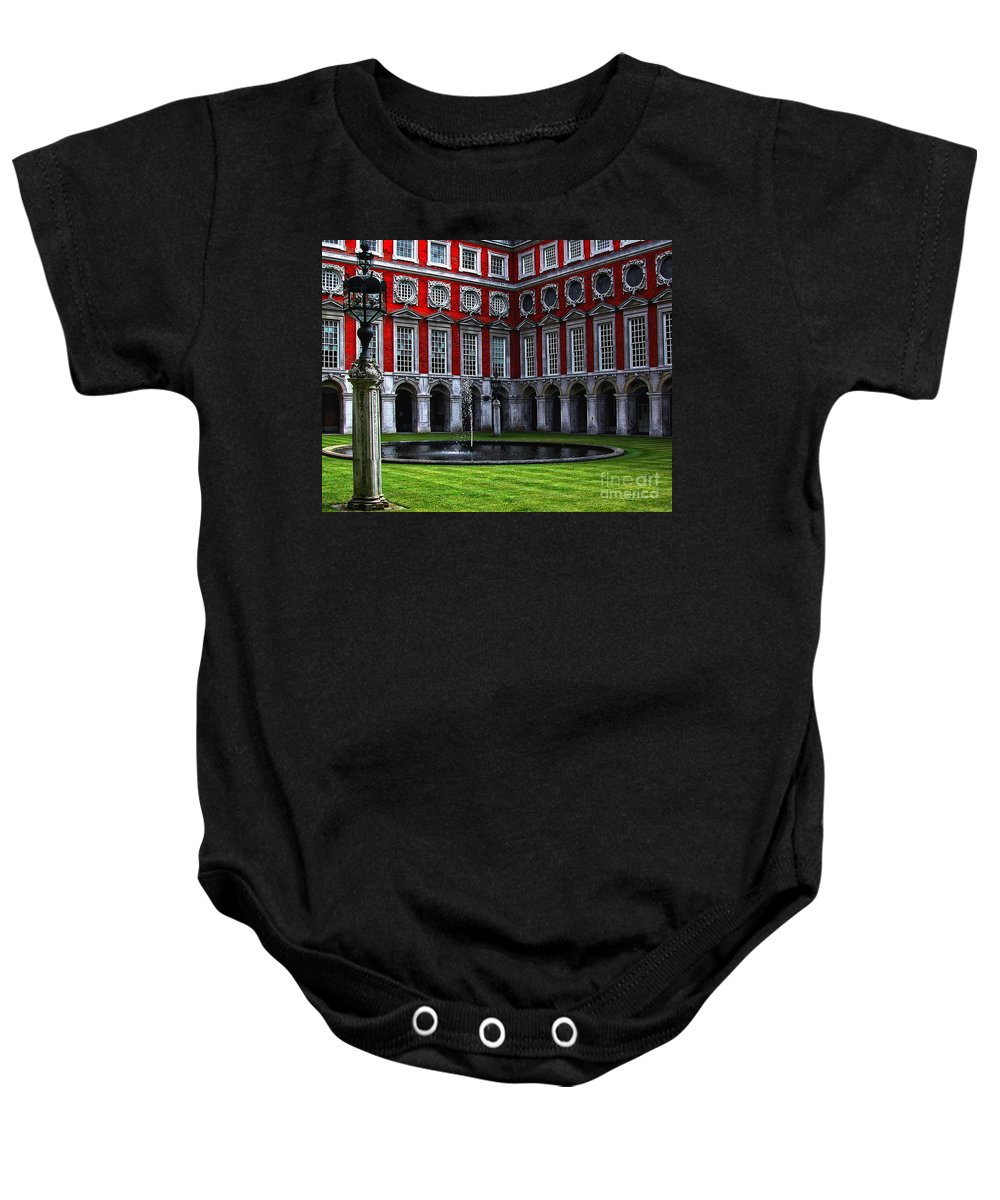 Architecture Baby Onesie featuring the photograph Hampton Court Palace by Kathleen K Parker
