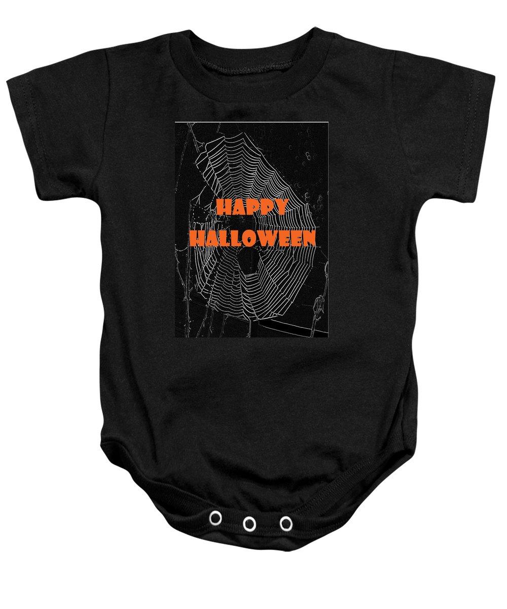 Halloween Baby Onesie featuring the photograph Happy Halloween Web by Judy Hall-Folde