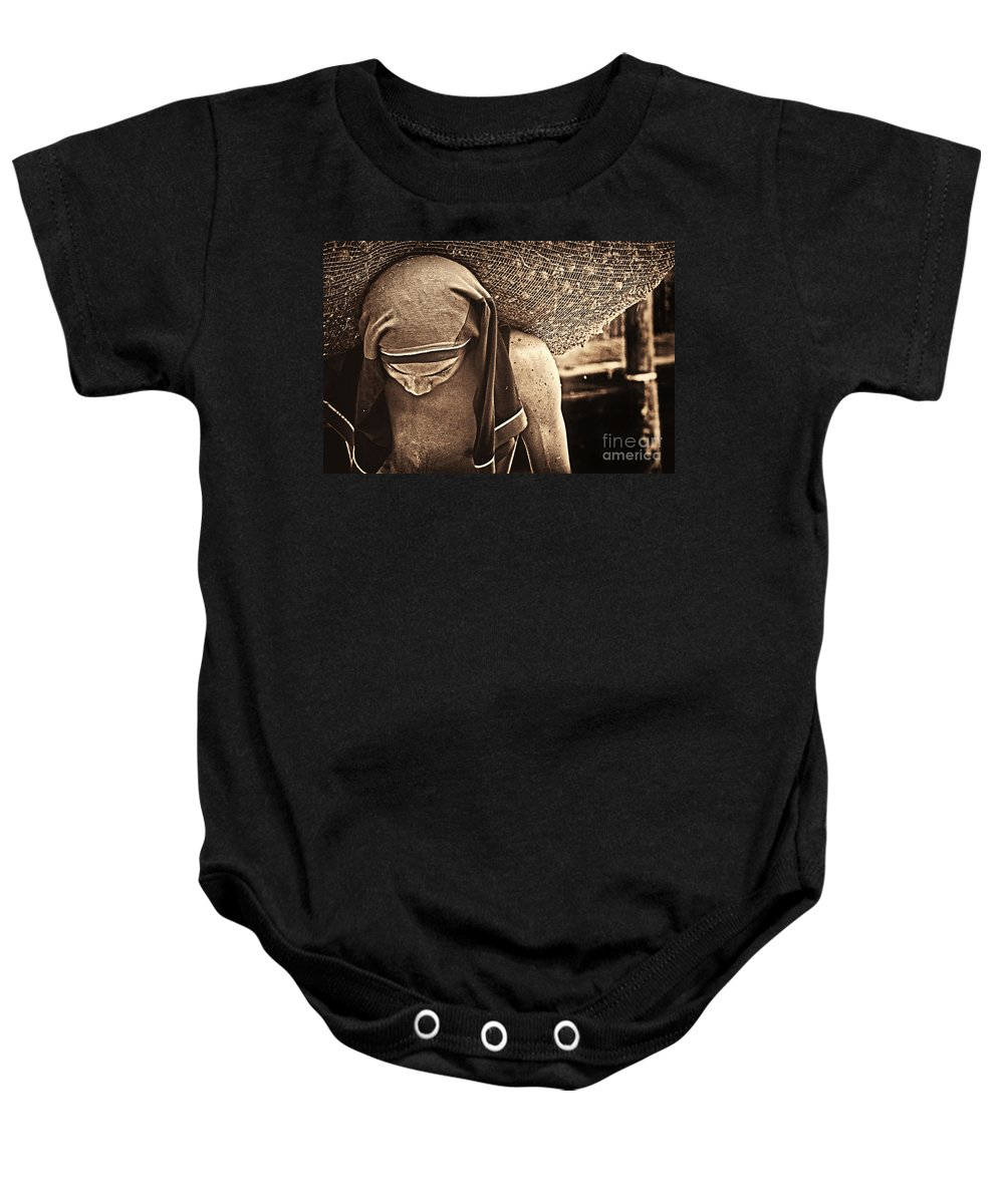 Worker Baby Onesie featuring the photograph Hard Work by Charuhas Images