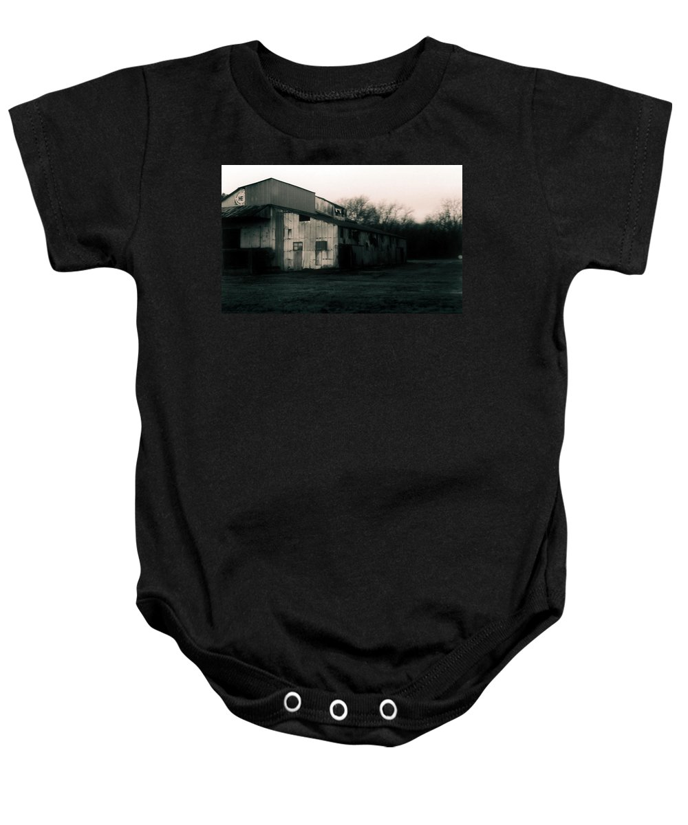 Louisiana Baby Onesie featuring the photograph He Ginning Systems by Doug Duffey