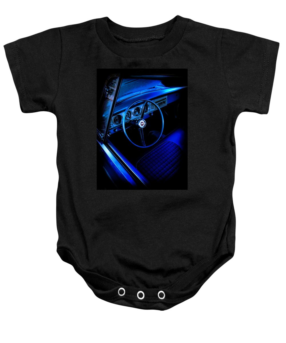 Car Baby Onesie featuring the photograph Hemi Blues by Jessica Brawley