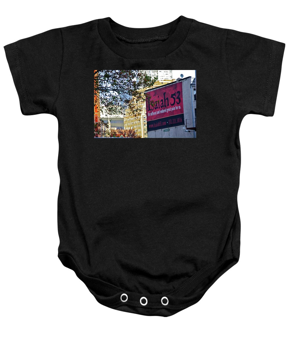 The High Line Baby Onesie featuring the photograph High Line Print 32 by Terry Wallace