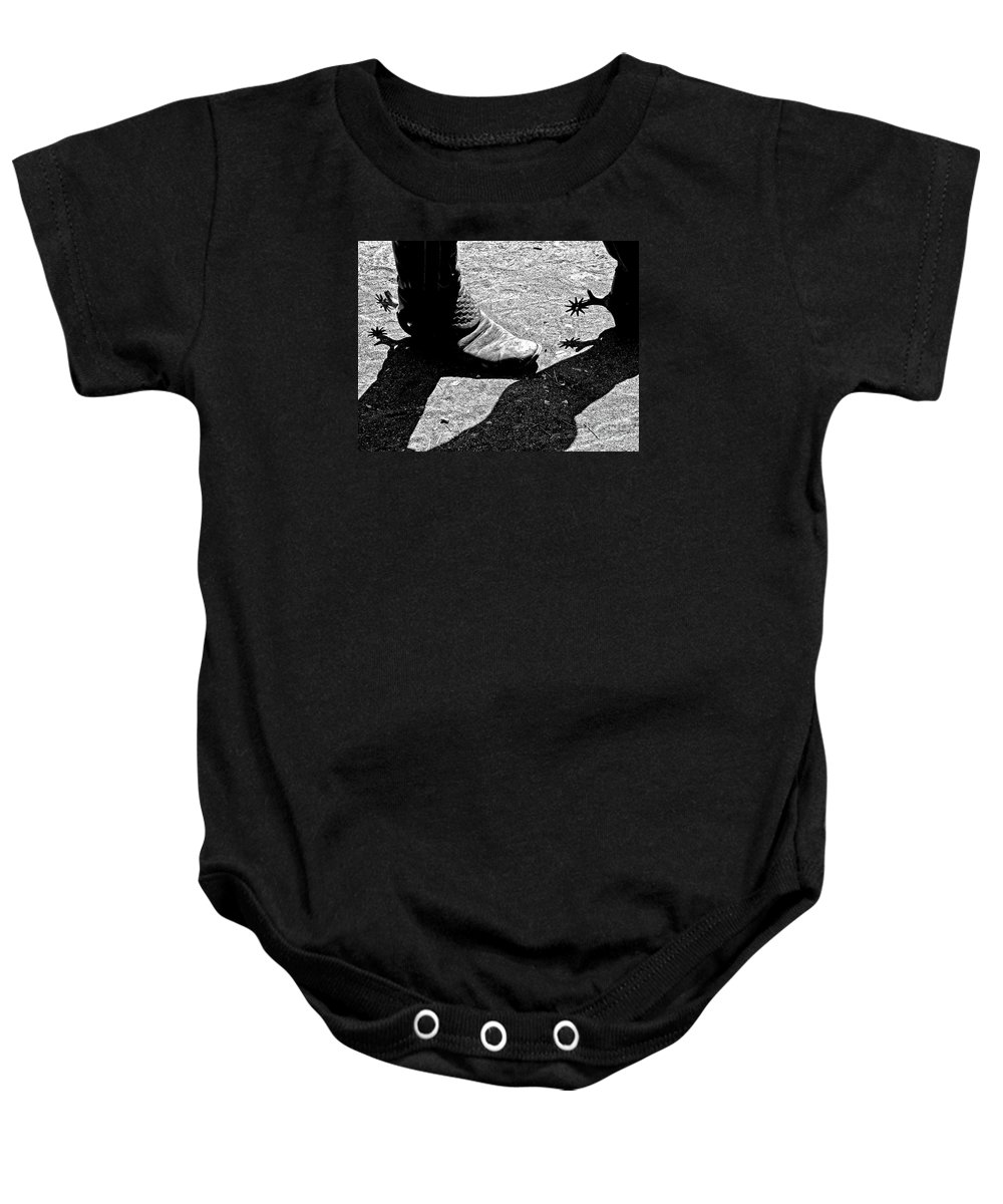Western Print Baby Onesie featuring the photograph High Two Thirty Seven by Joe Jake Pratt